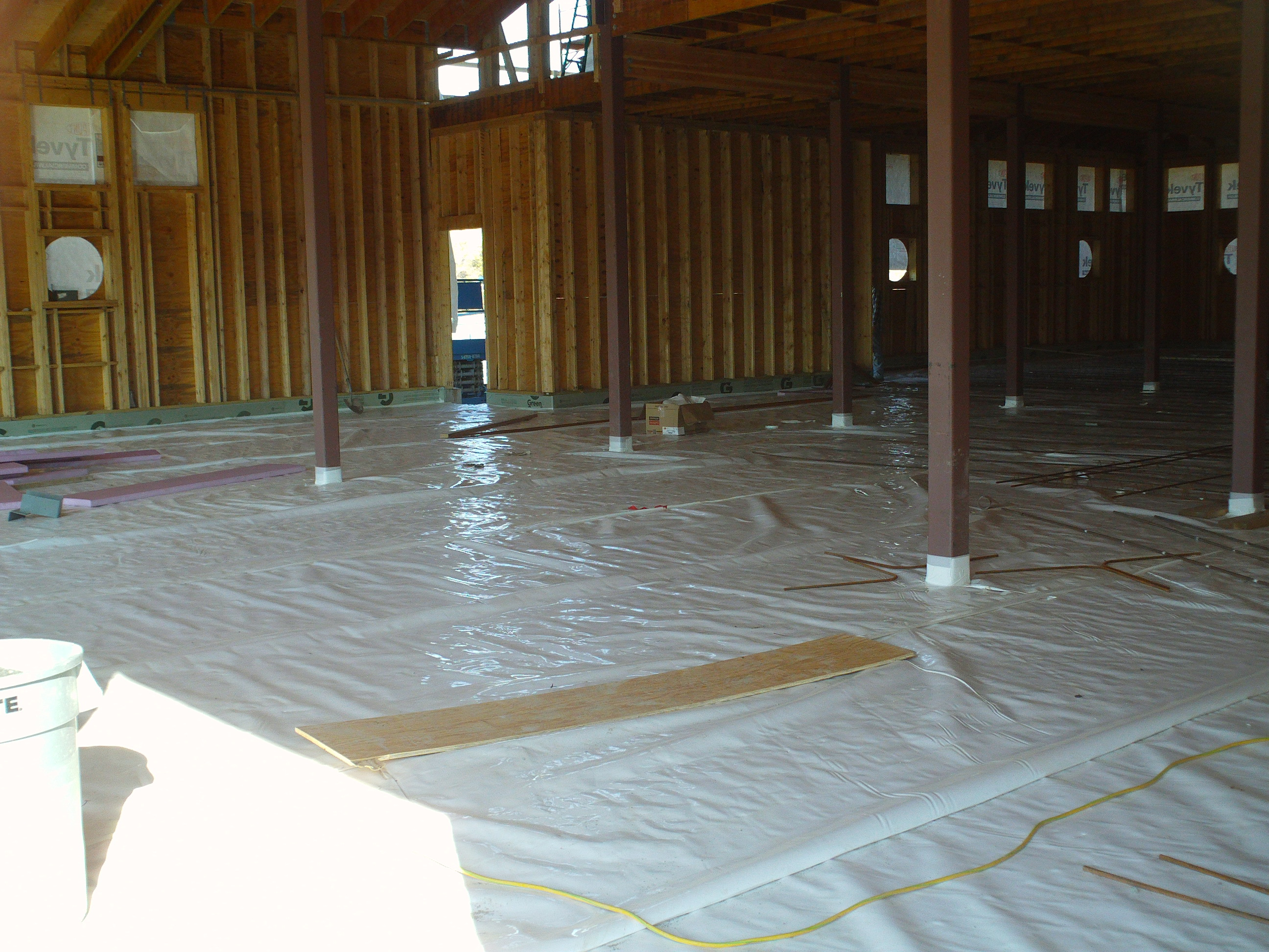 The building is dried in ithaca crew for Concrete floor insulation