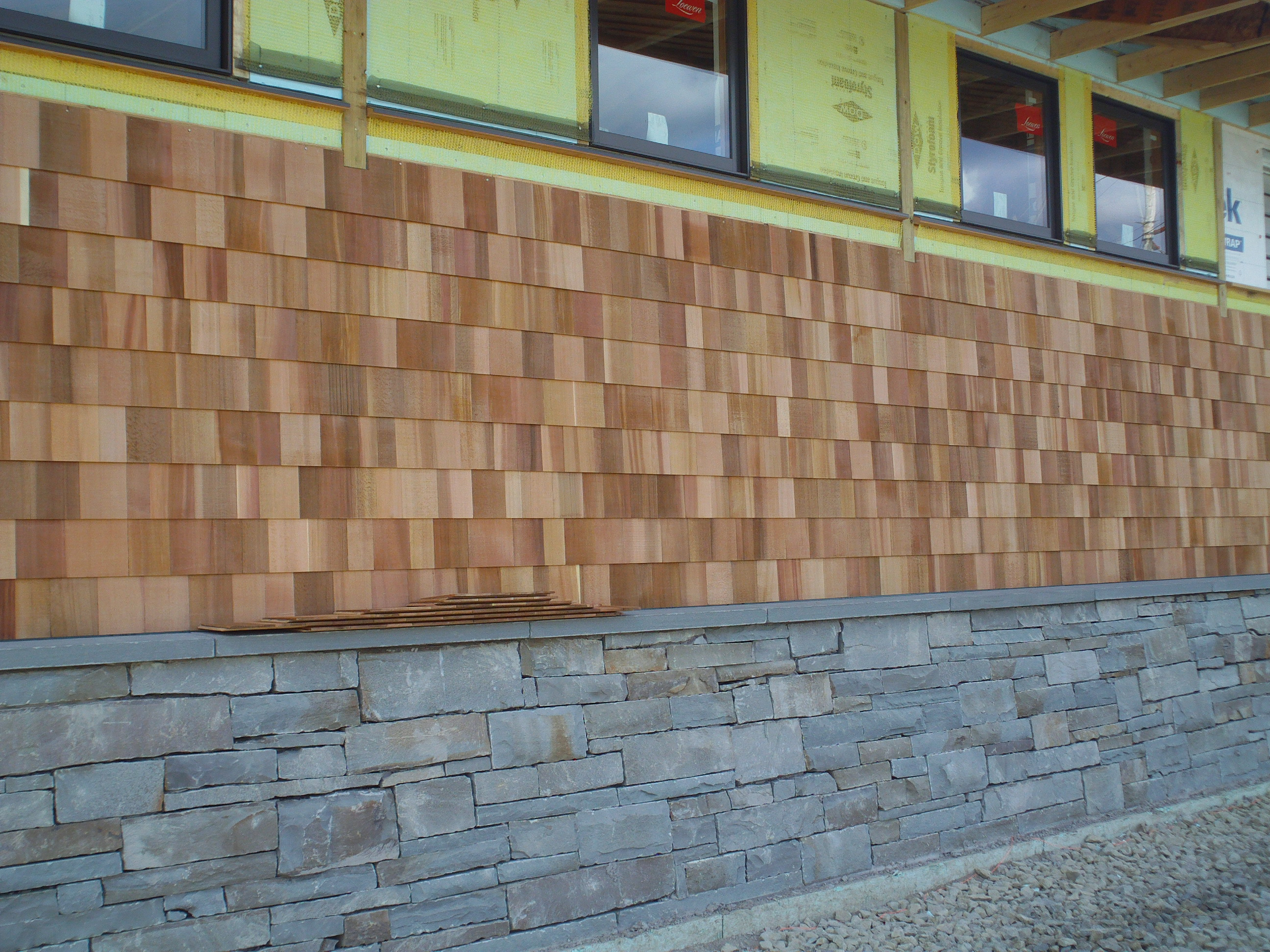 Exterior Wall Shingles : Cedar shake wall